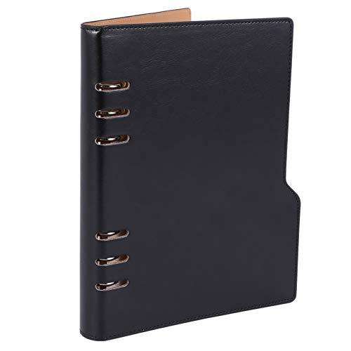 Jaimenalin Cuaderno A5 Diario de Cuero Planificador Anual Agenda en Espiral Carpeta de Diario Personal Organizador de Bolsillo para PapeleríA