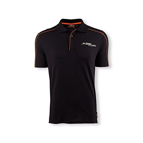 Sahara Force India F1-Team schwarzes Polo-Shirt Herren Gr. M, Schwarz