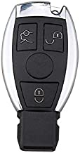 Amautolucky 3 Buttons Remote Car Key Shell Key Replacement for Mercedes Benz Year 2000+ NEC&BGA Control 433MHz