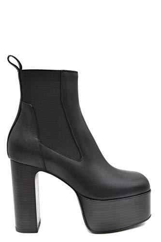 Luxury Fashion | Rick Owens Dames MCBI39249 Zwart Leer Enkellaarzen | Seizoen Outlet