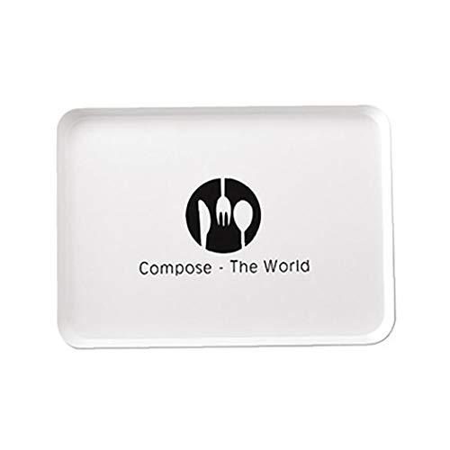 MaylFre Kunststoff-Serving Platters FDA Genehmigt Serviertabletts Für Polypropylen Servierware