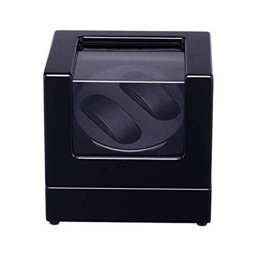 WXDP Enrollador de Reloj automático,Caja enrolladora de para Relojes Dobles automáticos, Motor japonés súper silencioso y Almacenamiento de Joyas