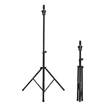 Mannequin Head Stand MEIBR Adjustable Wig Stand Tripod for Hairdressing Training,Cosmetology Mannequin Training Professional Metal Support Tripod  Black