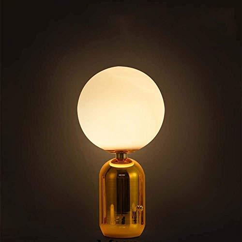 N/Z Equipo para el hogar Lámpara de Mesa de Bola de Cristal de Frijol mágico Hierro Creativo Lámpara de Noche de exclamación de Oro metálico Lámpara de Noche de Restaurante Dormitorio Luz LED