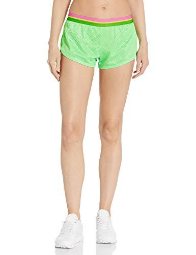SOFFE Pantalón Corto de Malla Teeny Tiny para Mujer, Verde Summer, S