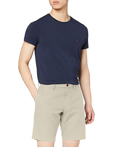 Tommy Hilfiger Herren Brooklyn Short Dobby GMD Loose Fit Jeans, Light Stone, NI34