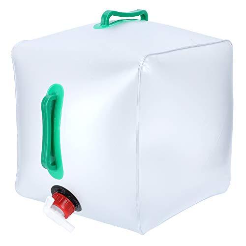 Emoshayoga Bolsa de Agua Plegable de 20L Contenedor de Cubo Plegable Portador de Agua portátil Cubo Plegable Suave Transparente para Barbacoa al Aire Libre