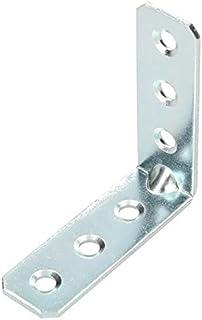 KOTARBAU - Ángulo de conexión de 60 x 60 x 20 mm de acero con ranura para montaje en muebles galvanizado para cargas pe...