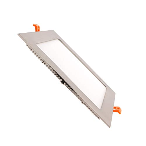 LEDKIA LIGHTING Placa LED 18W Cuadrada SuperSlim Silver Corte 205x205 mm Blanco...
