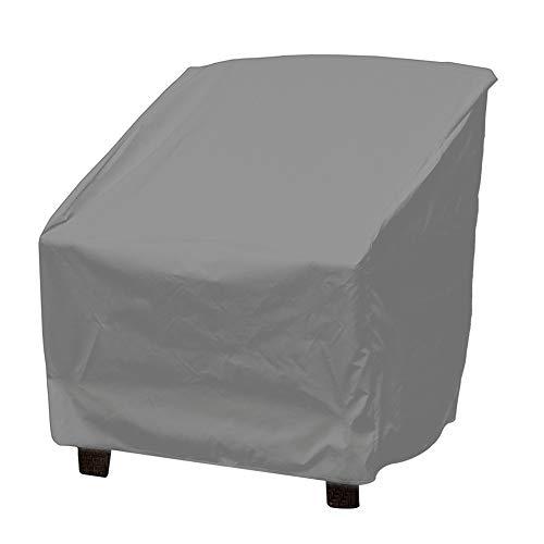 Vikye Cubierta a Prueba de Polvo, Revestimiento de PU Cubierta de Muebles Silla Impermeable Funda de sofá Protección Jardín Patio Exterior Juego de Muebles a Prueba de Viento Anti-UV Cubiertas(Gris)
