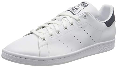 adidas Originals, Stan Smith, Sneakers, Unisex - Adulto, Bianco (Core White/Dark Blue), 41 1/3 EU