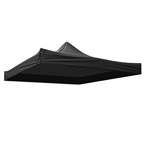 without LSB-CHUNJIE3, 1pc 9.5x9.5FT Gazebo Tents 420D Oxford Waterproof Garden Tent Gazebo Canopy Outdoor Marquee Market Tent Shade Party Pawilon Ogrodowy (Color : Black)