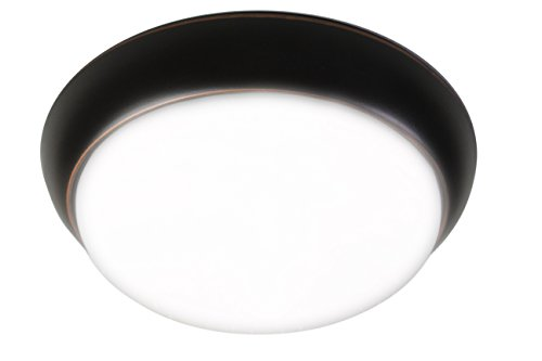 Luminosa LT1013 11 Inch Modern Round Flush Mount LED Light, Oil Rubbed Bronze Finish, Dimmable, Warm White Fixture, Inch