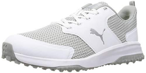 PUMA 194542, Chaussure de Golf Homme, White Silver Quarry, 39 EU