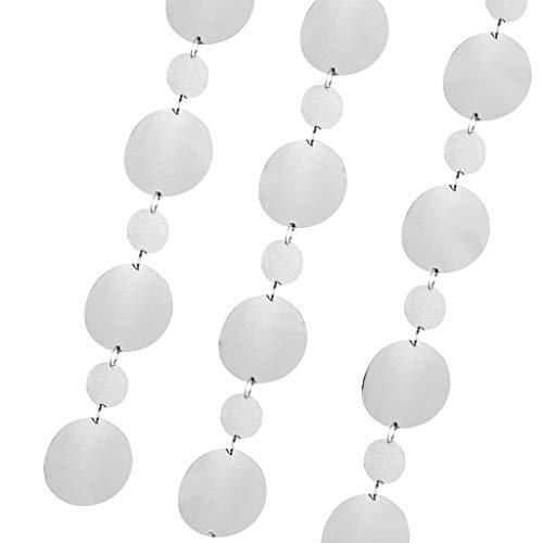 perfeclan 3pcs Metallic Pailletten Girlande Vorhang Hängedeko als Wohnkultur und Fotografie Requisiten, ca. 1M - 3cm + 5cm