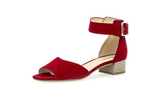 Gabor Damen Sandalen, Frauen Sandaletten,Best Fitting, Women Woman Abend Feier sommerschuh Riemen elegant feminin Leichter Absatz,Rubin,42 EU / 8 UK