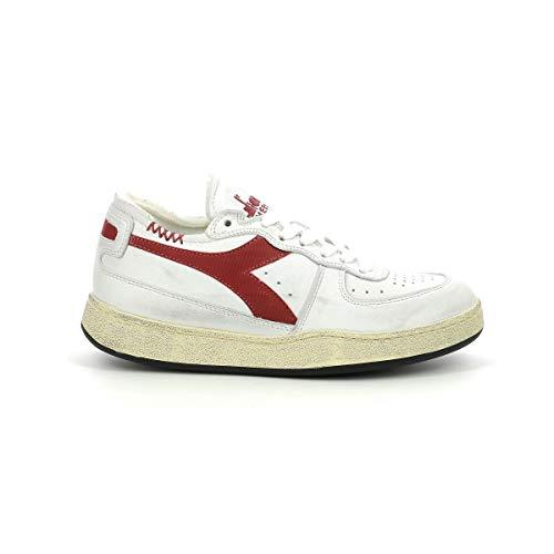 Diadora - Heritage Scarpa Sneaker Unisex Mi Basket tow Cut Bianco - 42