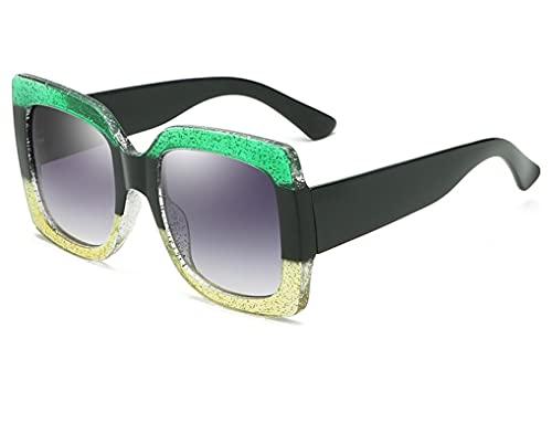 ODNJEMSD Nuevas Gafas De Sol Cuadradas De Moda Gafas De Sol De Mujer con Montura Tricolor Europea Y Americana