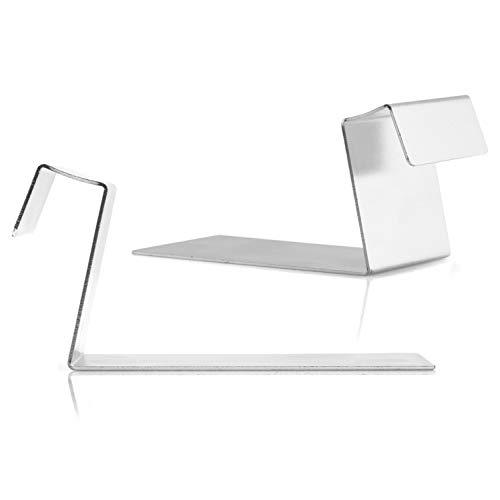 Juego de 2 soportes de mesa para cuadros en bastidores, con una profundidad de 1,8 cm x altura de 4,5 cm, de metal, sin herramientas, soporte de mesa