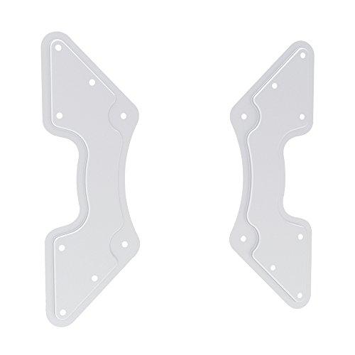 PureMounts ADAPT-C Piastra Adattatore VESA universale per allargare le distanze VESA, ingrandisce da VESA 200x200 fino a 400x400, in 2 pezzi, max. 30 kg, bianco