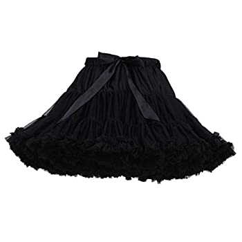 Women s Elastic Waist Chiffon Petticoat Puffy Tutu Tulle Skirt Princess Ballet Dance Underskirts  L One Size