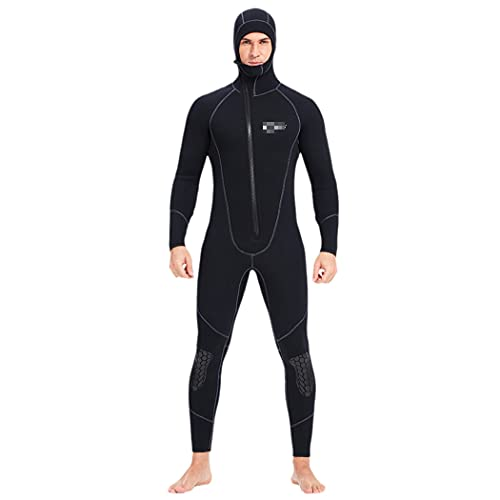 LIOPJH Traje de neopreno grueso de 7 mm, traje de buceo de manga larga para hombre, traje de buceo de pesca submarina, Snorkeling Surfing Invierno Traje de baño térmico