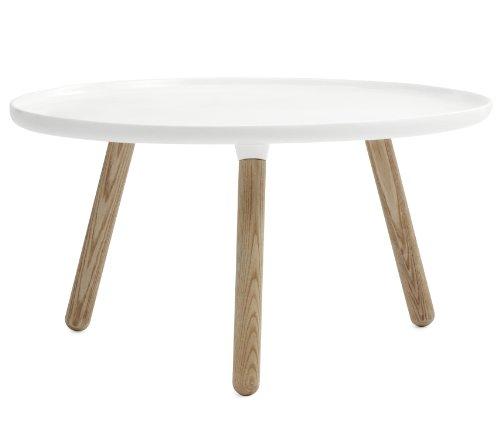 Normann Copenhagen Tablo Tisch, Kunststoff, Eschenholz, Weiß, 42x78cm