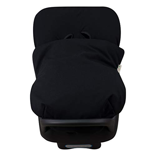 JANABEBE Schutzhülle + Universal-Fußsack für Maxi Cosi, CabrioFix, Jane, cibex, Bebeconfort, etc)(Black Series)