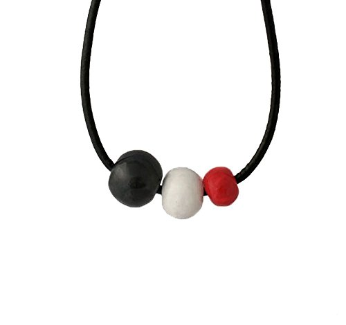 Chunky Statement Necklace for Women in Black, Red & White, Minimalist Jewellery Gifts Under 20