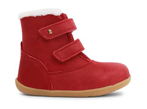 Bobux Step Up Aspen Winter Boot_Primeros Pasos - Un Casual de Piel, Suela Muy Flexible, Forro de algodón (Rio Red, 20)