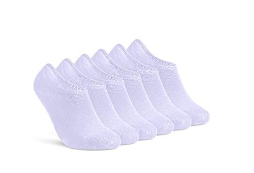Füßlinge Damen 35-38 Weiß Sneaker Socken 6 Paar unsichtbare kurze Socken 16805 (Weiß 35-38)