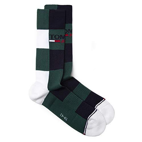 Tommy Hilfiger Herren Jeans Logo Sport Socks Socken Grün Lrg