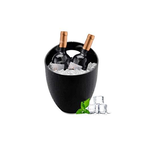 XJJZS Doble del Acero Inoxidable del Barril de Vino Cerveza Vino de Champagne Cubo de Hielo Champagne Vino Wine Bar Cubo Cubo de Hielo
