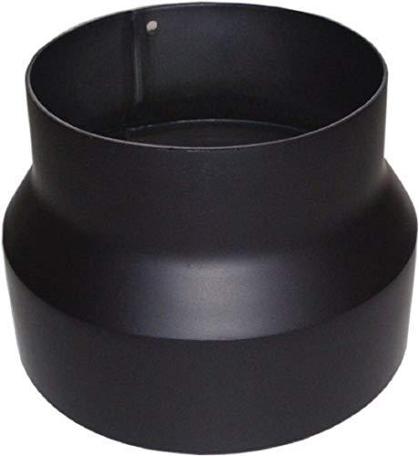 Jeremias Ofenrohr-Reduzierung 150 auf 120 mm, schwarz, FERRO-R1150120
