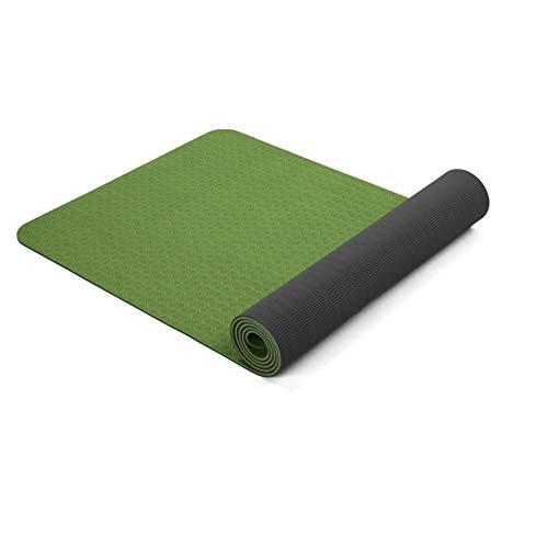 Zjyfyfyf Non Slip Yoga Mat con Eco Friendly Inodore Non di Slittamento Resistente E Leggero 8mm Spessore Pratico (Colore : Verde)