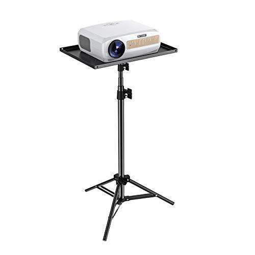 Beamer Ständer, BlitzWolf Beamer Stativ Projektorständer Tragbar Projektor Stativ universal Stativ Ständer 42-120cm Höhenverstellbar Bodenständer für Beamer Laptop Kameras