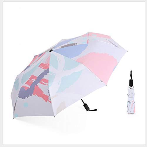 yyyyq Art Oil Painting Umbrella Rain and Sun Dual-Purpose Umbrella Sun Umbrella Sun Protection UV Protection Vinyl Folding Female Small Fresh Umbrella