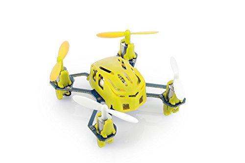 Hubsan Nano Q4 H111 45mm/ 11.5g Quad Copter 4-Channel RC Quadcopter with 2.4Ghz Radio System-Yellow