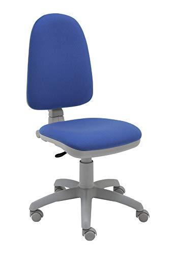 La Silla de Claudia - Silla de Escritorio giratoria Torino Gris ergonómica para Oficina y hogar con Contacto Permanente (Azul Claro)