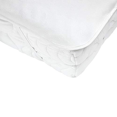 Carevitex Baumwoll Molton 2087 Limburg, 180x200 cm, wasserdichte, atmungsaktive Matratzenauflage mit Eckgummis, waschbar bis 95° und trocknergeeignet (Schontrocknen)