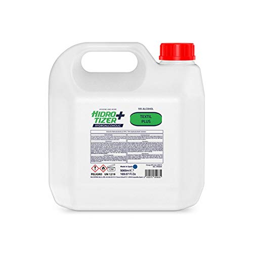 Solucion Hidroalcoholica 70% de Alcohol para Textil en Garrafa de 5 Litros
