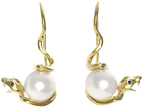 NC110 Collar con Colgante Par de aretes de Perlas Joyas para Mujeres y niñas el Nuevo Temperamento Premium Caja de Regalo de Oro de 18 Quilates para YUAHJIGE