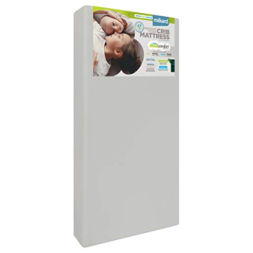 Milliard Crib Mattress, Flip Technology, Firm Side for Baby and Soft Side for Toddler - 100% Cotton Cover