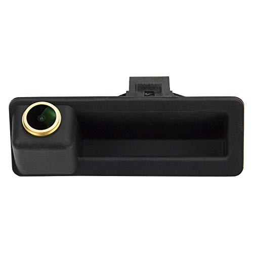 HD Goldene Rückfahrkamera 1280 * 720 Pixel 1000TV Linien Kamera für BMW X5 X1 E84 X6 E39 E53 1er E82 E88 E90 E91 E92 E93 E60 E61 E70 E71 E72,Wasserdicht Nachtsicht Einparkhilfe Rueckfahrkamera