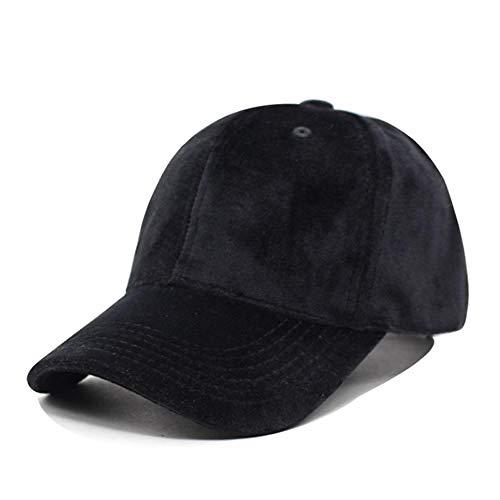 Gorra Mujer Snapback Gorra de béisbol Hombres Sombreros para Hombres Marca Llanura Casual En Blanco Gorra Ajustable Negro New Dad Caps Negro