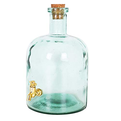 Tarro con Grifo, Bote dispensador, Dispensador de bebida, Botella con grifo, Garrafa vidrio, Jarra cristal 2250CC