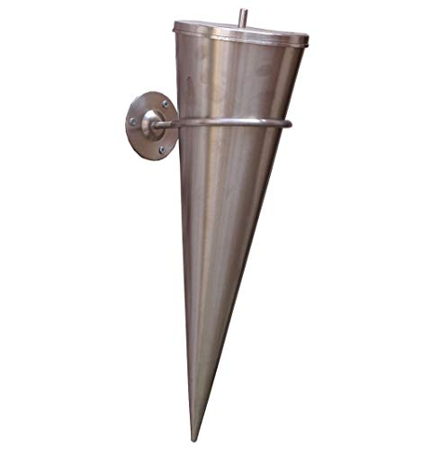 Gartenfackel Edelstahl Wandfackel Bodenfackel Cylinder-Fackel inklusive Zubehör