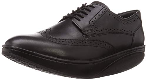 MBT Oxford Wing Tip M, Zapatos de Cordones Brogue Hombre, Negro (Black...