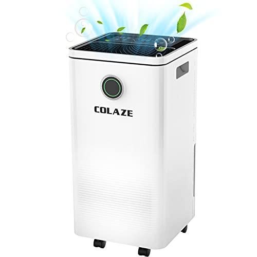 COLAZE 除湿機 衣類の乾燥機 じょしつき 衣類乾燥機 人気 12L 日 排水ホース付きコンプレッサー式 除湿機、24時間タイマー自動オフ 自動排水 自動霜取り 強力除湿 梅雨対策 浴室や地下室など湿気の多い場所用