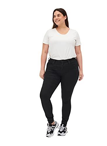Zizzi Amy Slim Jeans, Nero (Black 0199), 46 (Taglia del Produttore: 46/82 cm) Donna